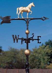 30-034-Race-Horse-Weathervane-w-Arrow-3D-equestrine-Pony-wind-vane