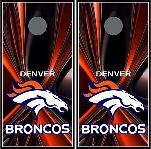 Denver Broncos 003 Cornhole Board Vinyl Wraps Stickers