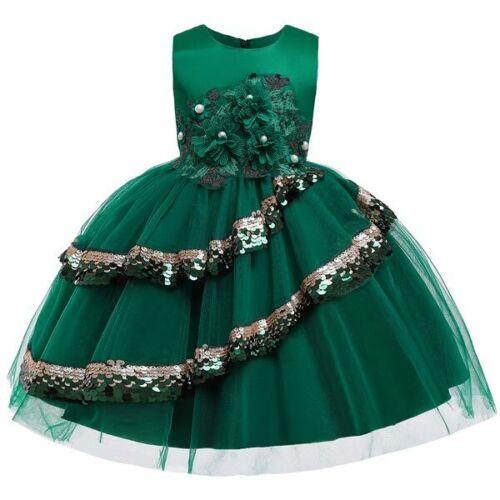 Bridesmaid Party Tutu Girl Dresses Princess Formal Dress Baby Wedding Flower Kid
