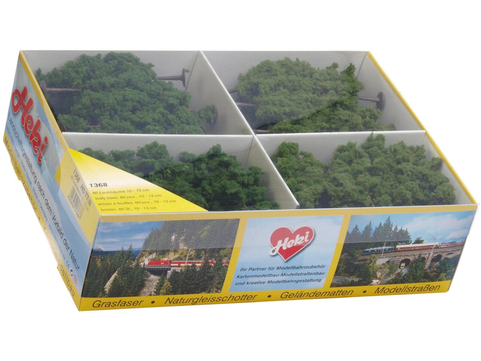 Heki 1368 h0 tt n 60 árboles caducifolios 10-13 cm + + nuevo con embalaje original + +