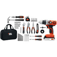 Black & Decker 20V MAX Li-Ion Drill and Project Kit LDX120PK New