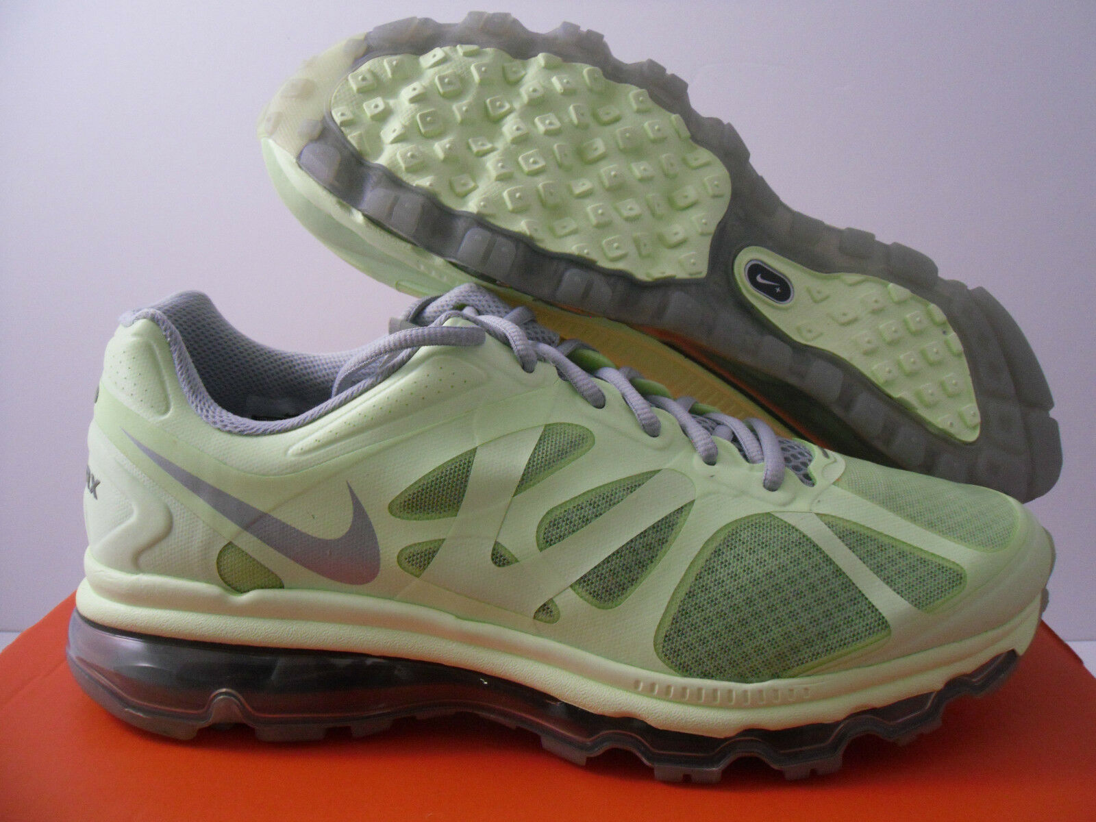 WMNS NIKE AIR MAX + 2012 BARELY VOLT SZ 10 [487679-700]
