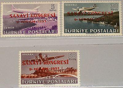 Ovp Mnh Unparteiisch Turkey TÜrkei 1951 1270-72 C19-21 Airplanes Flugzeuge Industrial Cong Briefmarken