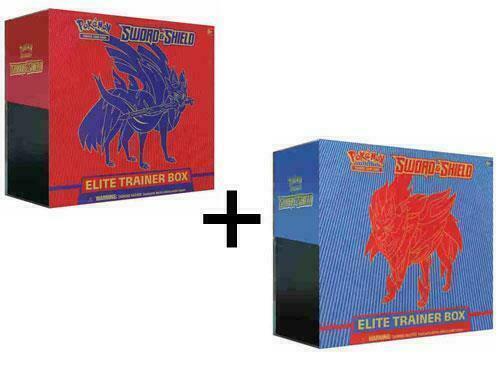 Pokemon TCG Sword and Shield Elite Trainer Box Set of 2 16 Booster Packs