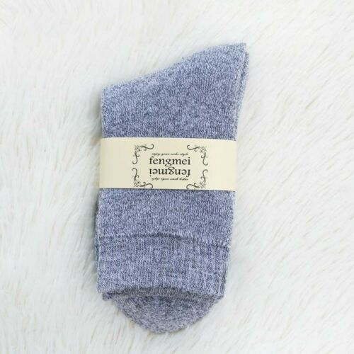 Women Cotton Thermal Thick Winter Warm Soft Solid Casual Sports Socks