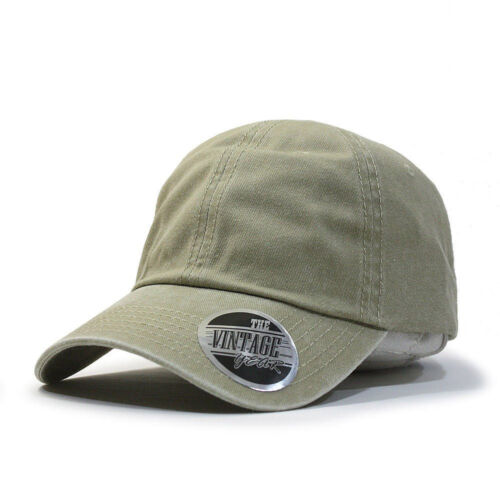 New Vintage Year Blank Dad Hat Cotton Adjustable Baseball Cap