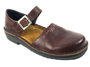Naot-Brown-Mary-Jane-Flat-Women-039-s-Shoes-Size-EUR-37-US-6-5