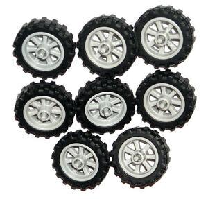 LEGO-8-MOTORCYCLE-WHEELS-NEW-City-Dirt-Bike-Wheels-50861-50862