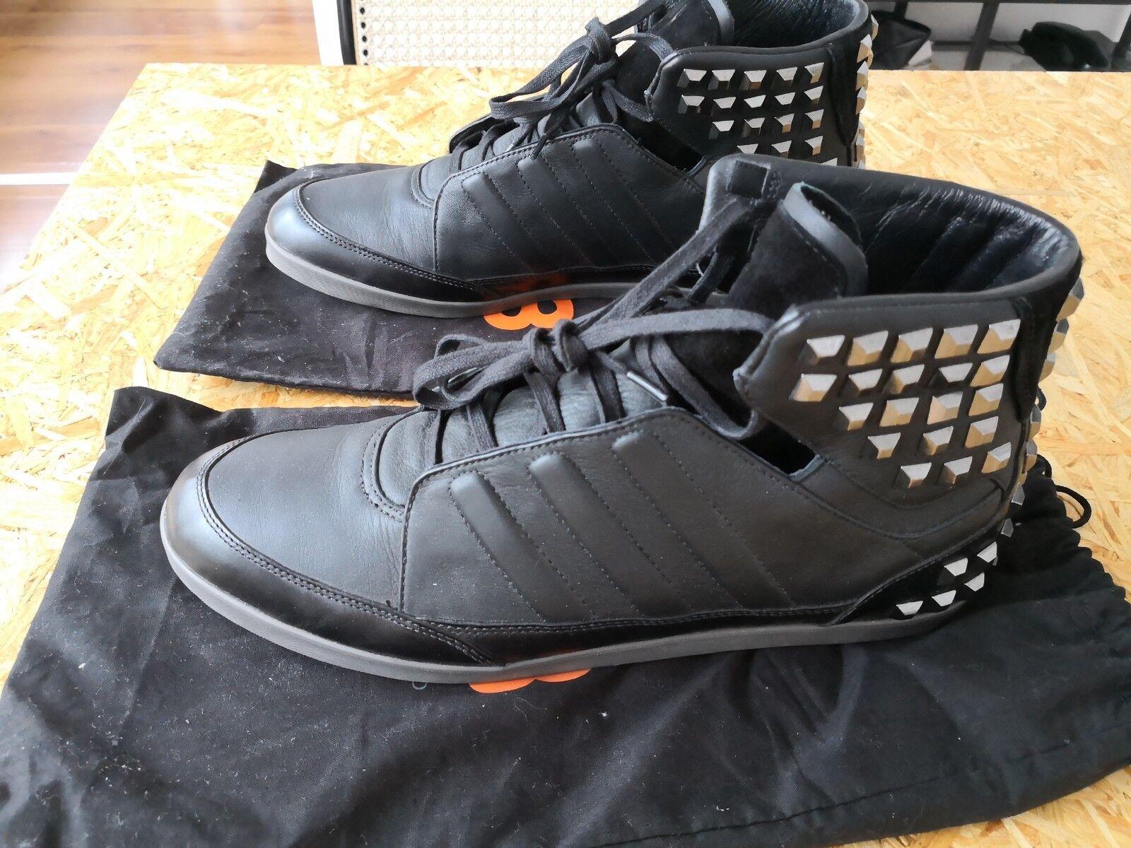 Adidas Y3 Honja Hi schwarz Y-3 Turnschuhe high Leder schwarz Nieten wie neu