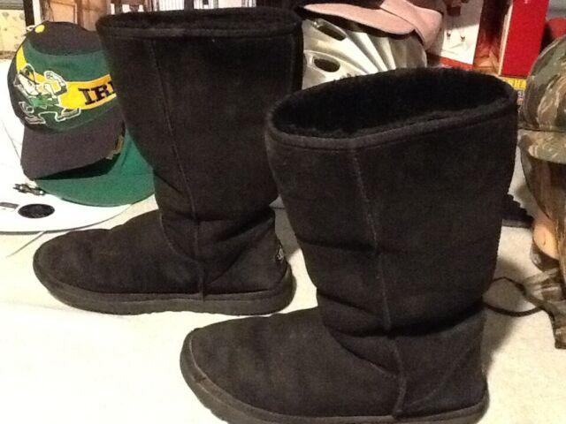 black leather suede ugg australia