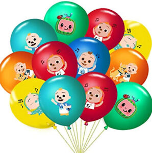 COCOMELON Happy Birthday Party LATEX BALLOONS 18 pcs 12 inches Helium quality