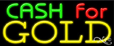 Brand New Cash For Gold 32x13 Real Neon Sign Withcustom Options 11195