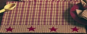 4pc-Olivia-039-s-Heartland-country-primitive-Vintage-Star-pattern-table-PLACEMATS