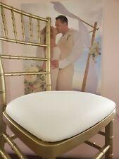 Set Of 2 Ivory Fabric Chiavari Chair Cushion Pad New Free Shipping