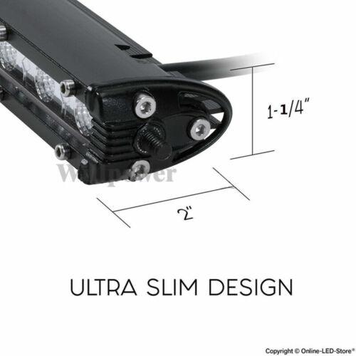 2Pcs Single Row Slim LED Work Light Bar for Car Off Road Truck SUV UTE JEEP EU