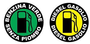 2-ADESIVO-STICKERS-DECAL-TAPPO-BENZINA-DIESEL-GASOLIO-AUTO-MOTO-SERBATOIO