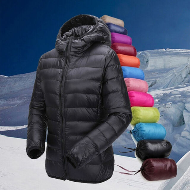 843bf8241 Women's Ultra Lightweight Hooded Packable Down Jacket Quilted Puffer Coat  GIFT