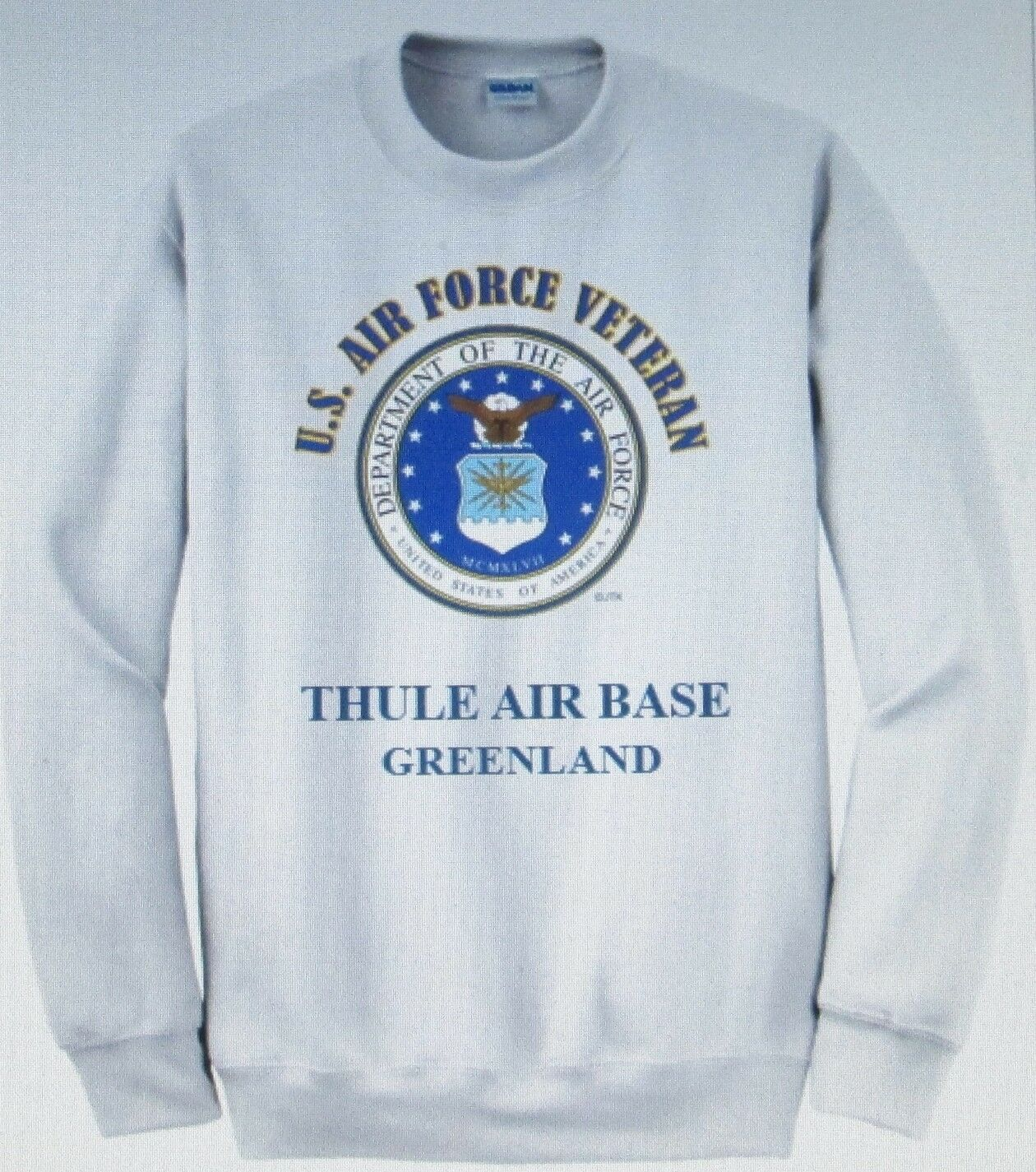 bb1a0f47772 THULE AIR BASE AIR FORCE EMBLEM VETERAN SWEATSHIRT GREENLAND ...