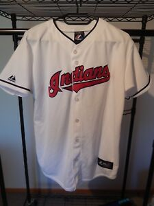 cheaper 429af dc240 Details about NWOT Cleveland Indians majestic jersey youth XL Andrew Miller