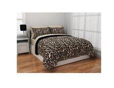 Leopard Print Room Decor Bedding Twin Reversible Comforter Cheetah Bed In Bag