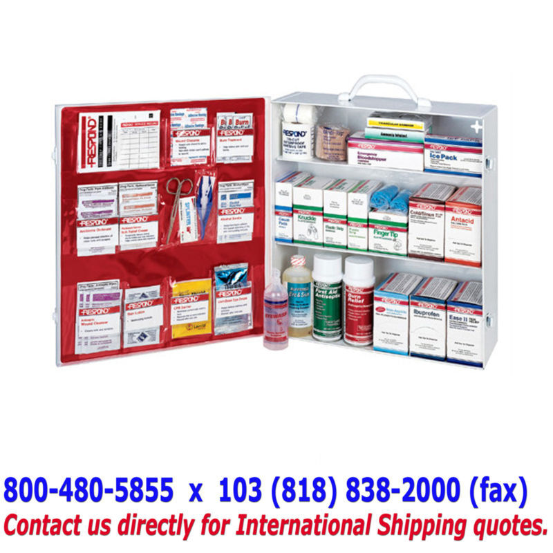 3-Shelf FULL FIRST AID CABINET - Emergency  Supply Kit  new products novelty items