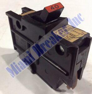 NA2P40 Circuit Breaker Federal Pacific FPE 40 Amp 2 Pole Stab-lok TYPE NA 1pc