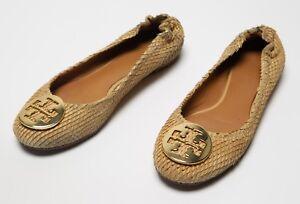 495a1b143222 Women s Tory Burch Ballet Flats Shoes Snake Skin Leather Print Size ...