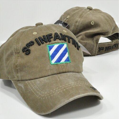 US Army 3rd ID Infantry Division Ball Cap OEF OIF Gulf Vet Hat Desert Sand Khaki