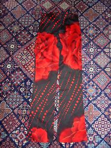 vintage-france-FOLLIES-Hose-pants-stretch-designer-paris-stretchhose-80s-90s-L