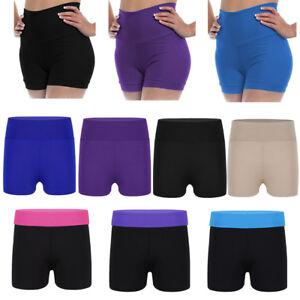 Girl-Kid-Stretch-Shorts-Gymnastic-Ballet-Leotard-Yoga-Sport-High-Waist-Hot-Pants