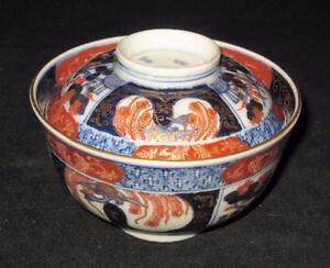 Arita, Fuki Choshun, Japanese Imari Meiji Period 1868-1912, Lidded Rice Bowl