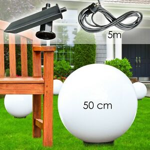boule lumineuse 50 cm lampe de jardin luminaire ext rieur lampe sur pied 144047 ebay. Black Bedroom Furniture Sets. Home Design Ideas