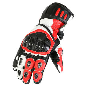 Any Size Red White amp Black Armoured Vented Knuckle Motorbike Racing Gloves - GB, United Kingdom - We comply with the Consumer Rights Act introduced October 2015. - GB, United Kingdom