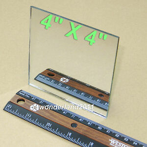 """First Surface Mirror 4x4"""" Square aluminized 1/8"""" Thick for Laser printers Sensor"""