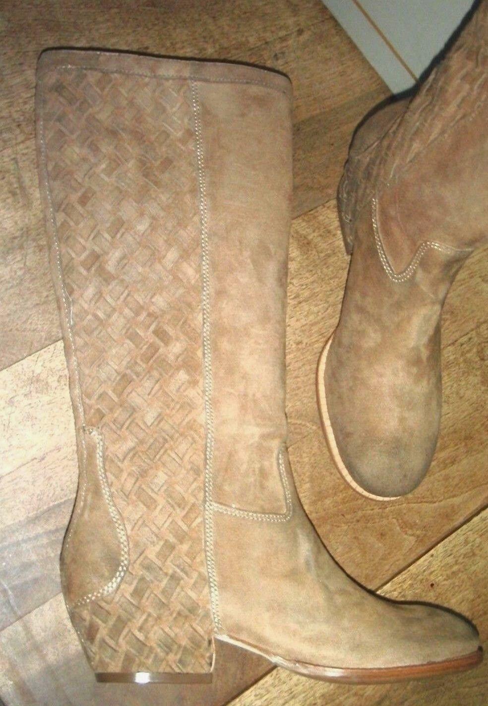 ASH LOBO cuir suede camel NEUVE talon 4cm Valeur 285E Pointures 36,38, 39