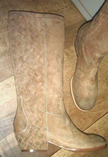 39 ASH LOBO Leder Wildleder camel neu Absatz 4cm Wert 285E Schuhgrößen 36,38