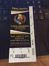 2016 COPA AMERICA SOCCER CHILE VS ARGENTINA FINAL MATCH 6/26 TICKET STUB