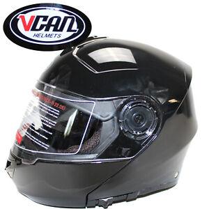 MOTORRAD-HELM-Vcan-Integriertes-Sonnenschutzvisier-L-XL-Motorradhelm-ue5uec1