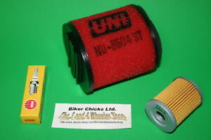 Oil Filter /& Spark Plug For Stock Air Box HONDA  85-87 ATC250ES  Air filter