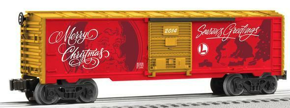 Lionel  81316 personalized message christmas boxcar