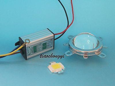 10W High Power LED & Waterproof Driver &  Lens Reflector Bracket For DIY led kit