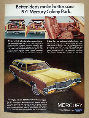 Tailgate Turns Into a Door Vintage Print Ad 1966 Mercury Colony Park