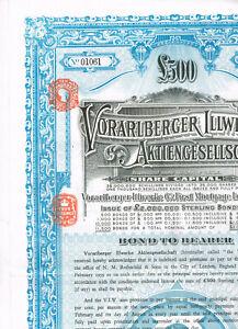 Vorarlberger-Illwerke-AG-1929-LB-500-Loan-cancelled-blue-VF