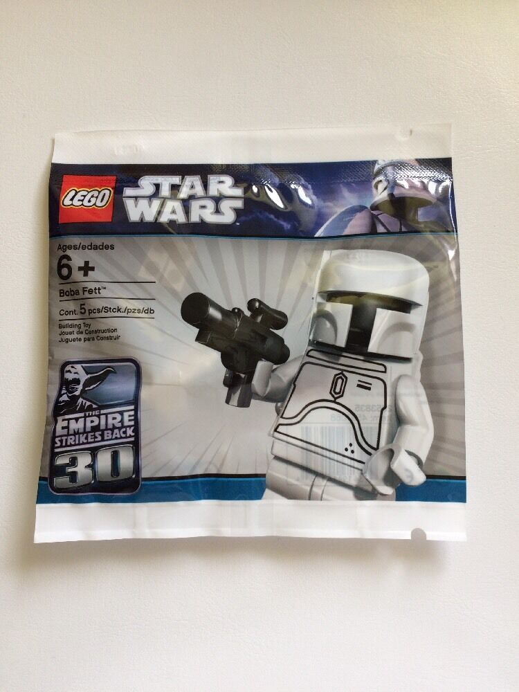 Lego White Boba Fett 30th Aniversary Limited Edition Mini Figure Polybag New