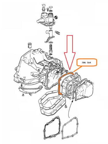 OPEL VECTRA B/&C F13,F15,F17 Getriebe Dichtung Getriebegehäuse an Lagerschild