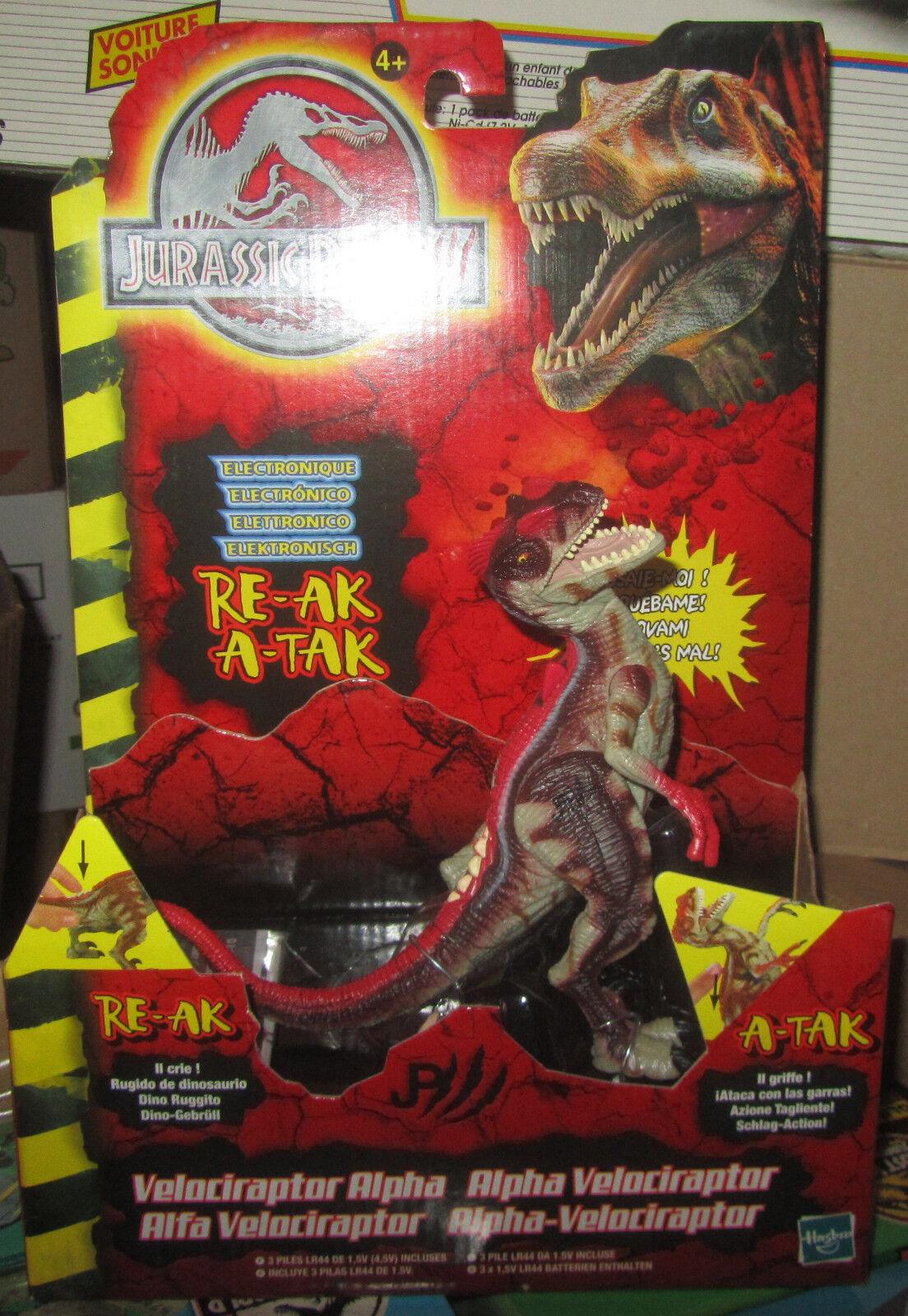 Jurassic Park 3 III Velociraptor Alfa Alpha Re-Ak A-Tak Electronic MOC