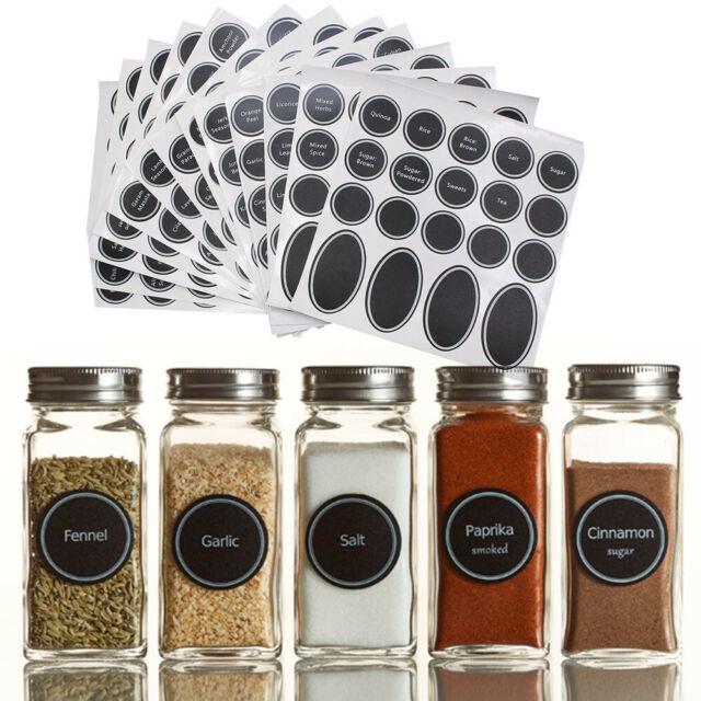 Print bocal à épices Pantry Étiquette Lot gommettes rondes Write-sur label auto-adhésif 320