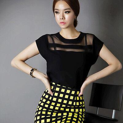 2015 Fashion Women Blouse Summer Casual Loose Short Sleeve Shirt Chiffon Blouse