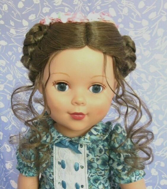 Kemper AUDRIANNE Brown Full Adj Cap Doll Wig Size 12-13 Scandinavian Braided