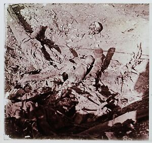 Bodies Germania Guerre 14-18 Francia Foto Stereo PL46Th2n7 Placca Vintage